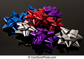 gift bows colored