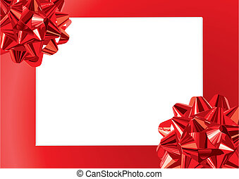 Gift Bows Frame (vector) - Gift Bows Frame With Space For...