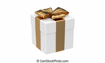 Gift box 3D animation