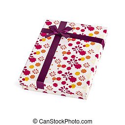 gift box an isolated on white background. clipping path.