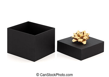 Gift Box and Gold Bow
