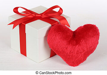 Gift box and heart love topic for Valentine's or mother's day gi