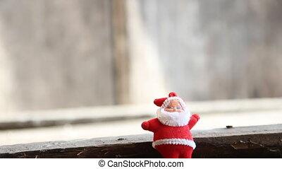 Gift box and Santa