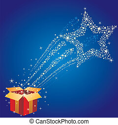 gift box and star