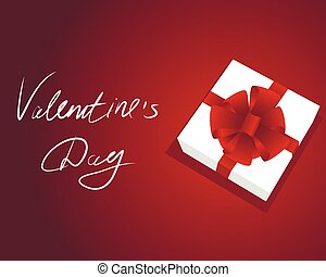 Gift box background on red