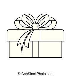 gift box bow on white background