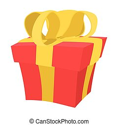Gift box cartoon icon