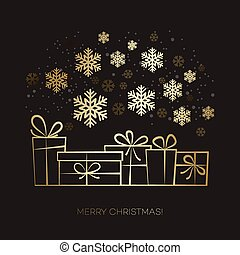 Gift box Christmas card