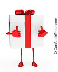 gift box figure