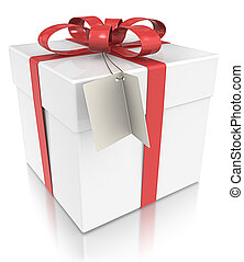 Gift Box. - Gift Box with Tag.