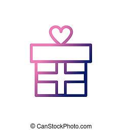 gift box, gradient style icon