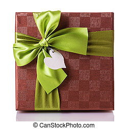 gift box green red