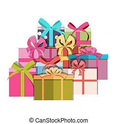 Gift Box Holiday Background Vector Illustration