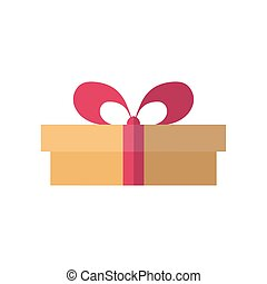 gift box icon, flat style