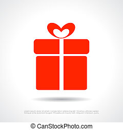 Gift box icon - Gift box vector icon
