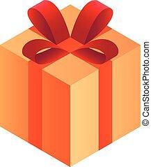 Gift box icon, isometric style
