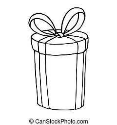 Gift box icon on a white background