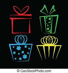 Gift box icon set