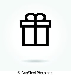 Gift box icon vector on white background