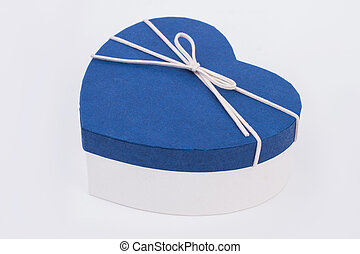 Gift box in a shape of heart.