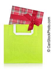 Gift box in a shopping bag