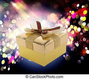 Gift box in Christmas