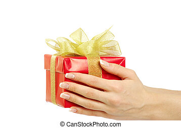 gift box in hand