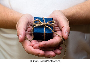 gift box in hands