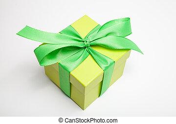 gift box in yellow