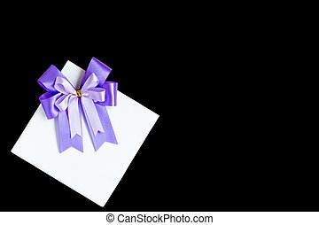 Gift box isolated on black background with clipping path