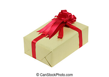Gift Box Isolated On White Background.