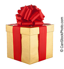 Gift box isolated on wnite background. Holyday concept