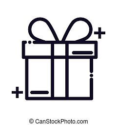gift box line style icon