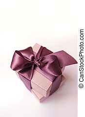 gift box of kraft paper with brown ribbon