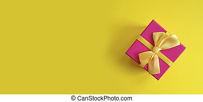 gift box on colored background