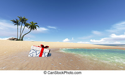 gift box on the Beach