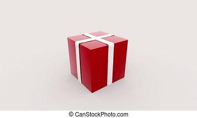 Camera moves into the box