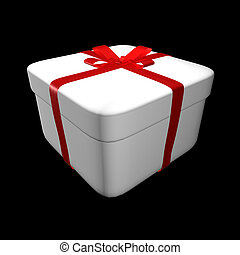gift box over black background