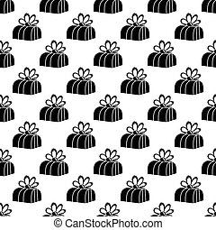 Gift box pattern seamless