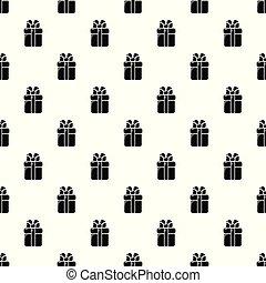 Gift box pattern vector seamless