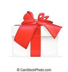 gift box present red ribbon bow