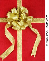Gift Box - Red gift box with ribbon.