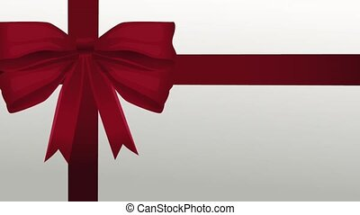 Gift box red ribbon HD animation - Gift box red ribbon over...