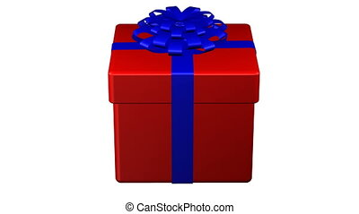 Gift box tied ribbon with a bow tur