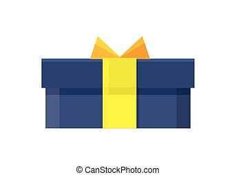 Gift Box Vector Icon in Flat Style Design