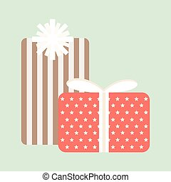 Gift box vector icon isolated