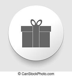 Gift box - Vector icon