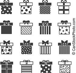 Gift box vector icons