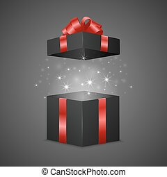 Gift box with a magic effect
