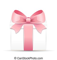 Gift box with a pink bow